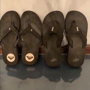Reef& roxy Black sandal lot